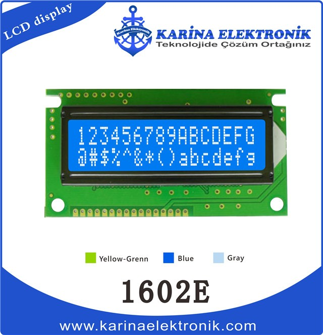 1602E Blue Colour , Character LCD