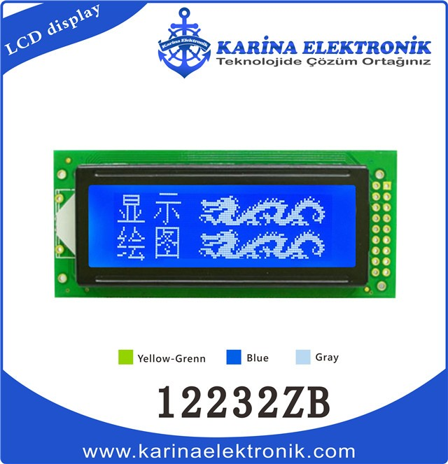 12232ZB blue 640x640 , Graphic LCD , LCD