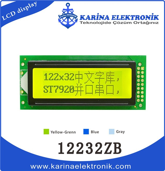12232ZB yellow 640x640 , Graphic LCD , LCD